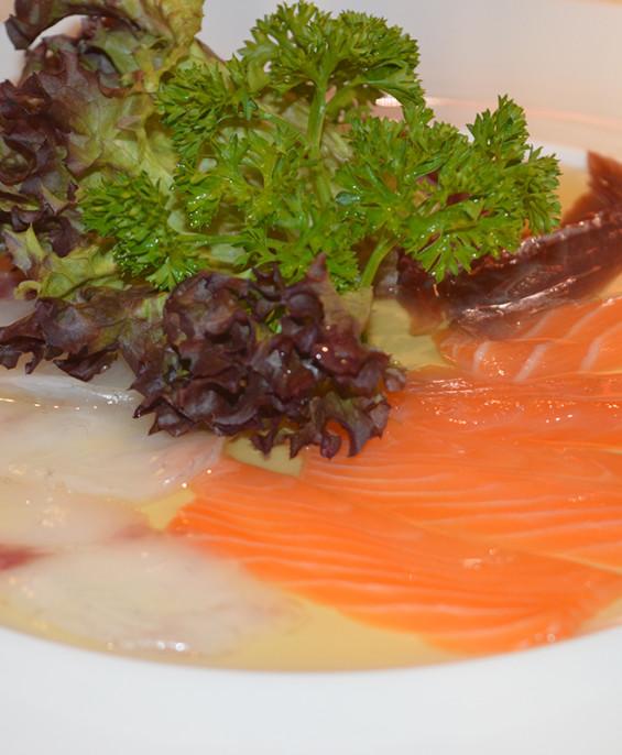 Carpaccio misto spigola tonno salmone mini   – Hari restaurant – Hari ristorante giapponese con cucina asiatica roma – Consegne
