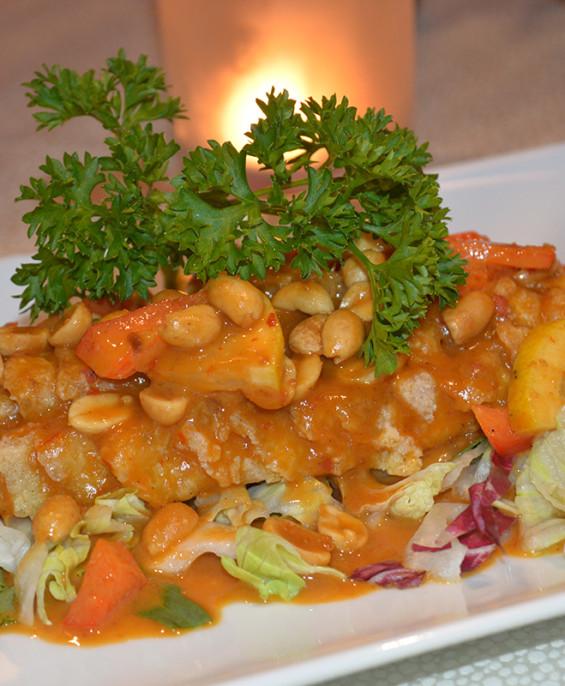 Filetto di branzino con salsa piccante mini 1 – Hari ristorante giapponese con cucina asiatica roma – Consegne -TakeAway – Honkonese – Hong kong