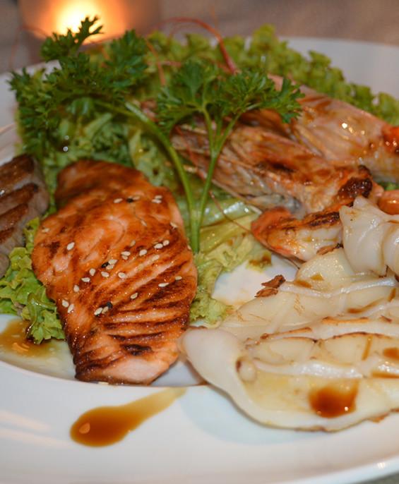 Misto di pesce alla piastra mini   – Hari restaurant – Hari ristorante giapponese con cucina asiatica roma – Consegne a domicili