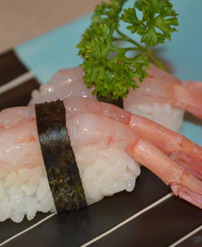 Nigiri gamberi crudi mini  Hari restaurant - Hari ristorante giapponese con cucina asiatica roma - Consegne -TakeAway - Honkones