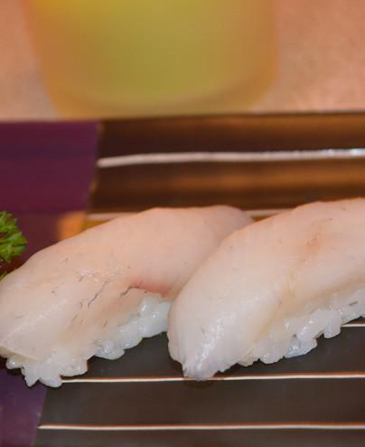 Nigiri spigola mini - Hari restaurant - Hari ristorante giapponese con cucina asiatica roma - Consegne a domicilio (TakeAway) -