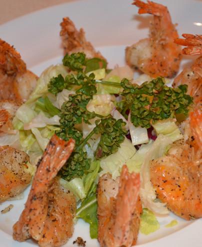 Gamberoni alla piastra con arachidi  - Hari restaurant - Hari ristorante giapponese con cucina asiatica roma - Consegne a domicilio (TakeAway) - Prenotazione