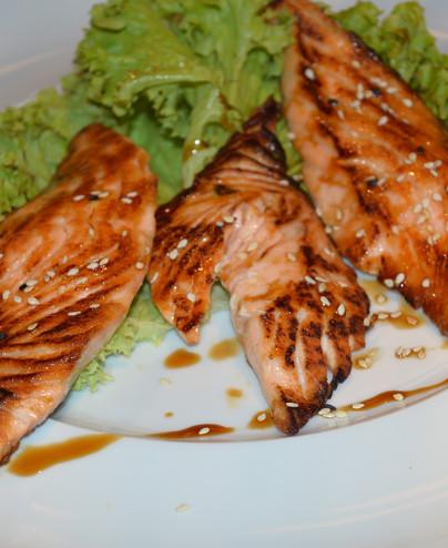 Salmone alla piastra mini   - Hari restaurant - Hari ristorante giapponese con cucina asiatica roma - Consegne a domicilio (Take